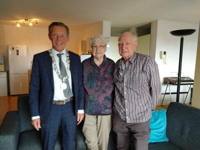 Echtpaar R. ter Maat en H.M. ter Maat-Giesen 60 jaar getrouwd