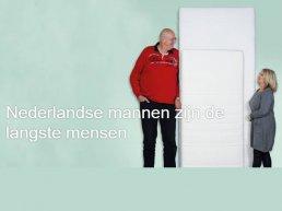 Nederlandse mannen zijn de langste mensen