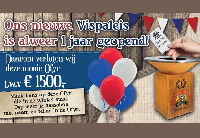 Vispaleis Dries van den Berg alweer 1 jaar geopend!
