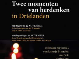 Herdenken in Drielanden op 22 en 24 november