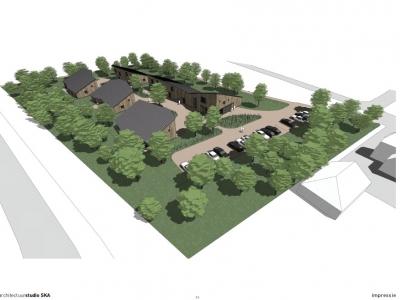 Kleine, goedkope, duurzame woonwijk in Groene Zoom