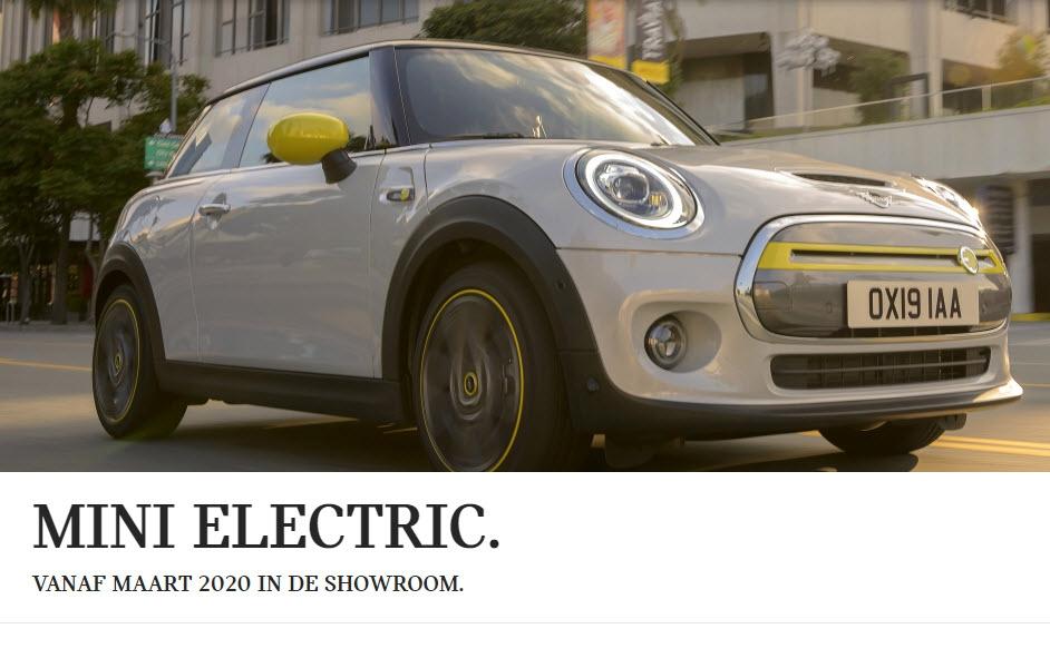 MINI electric vanaf 20 maart 2020 in de showroom