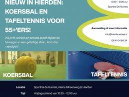 Nieuw in Hierden: koersbal en tafeltennis voor 55+ ers