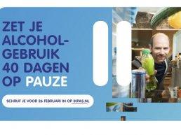Vanaf 26 februari 40 dagen geen alcohol!