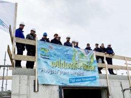 Hoogste punt wildwaterbaan Bosbad Putten bereikt