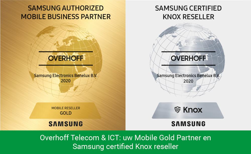 Overhoff Telecom & ICT: uw Mobile Gold Partner en Samsung certified Knox reseller