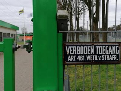 Sportpark VVOG is verboden terrein