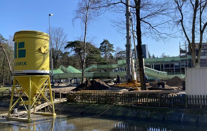 Bosbad Putten gesloten maar bouw wildwaterbaan gaat door