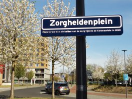 Entree ziekenhuis Harderwijk omgedoopt tot Zorgheldenplein