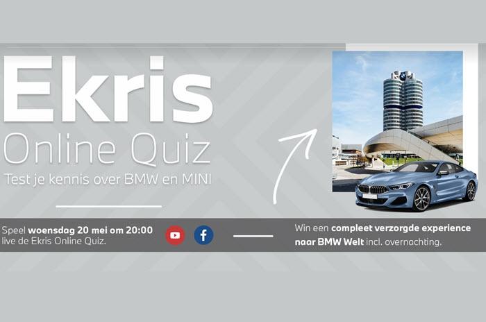 Ekris online quiz: U kunt uw kennis over BMW, MINI en elektrisch BMW en MINI eens flink op de proef stellen