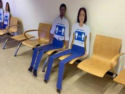 Kartonnen personen in ziekenhuis St.Jansdal Harderwijk