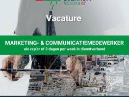 Vacature Marketing- en communicatiemedewerker