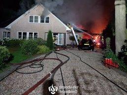 Brand in een woning aan de Biesteweg Hierden
