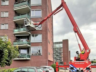 Bewoner appartement kan weer naar huis dankzij Brandweer Harderwijk