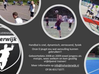 Handbalvereniging Harderwijk is op zoek naar leden!