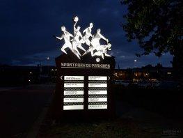 Nieuwe informatiezuil bij Sportpark Parkweg in Harderwijk