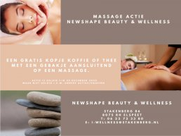 Massage actie: Newshape Beauty & Wellness