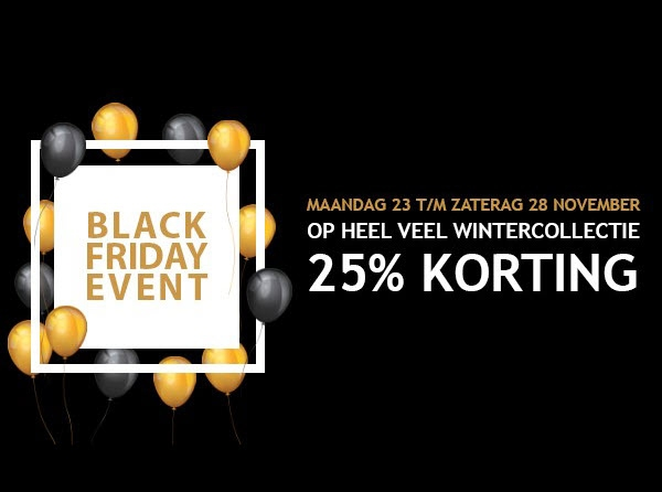Black Friday Week bij Germano Menswear Harderwijk