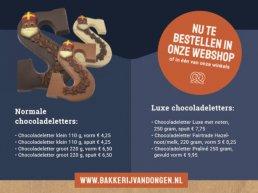 Heb jij ze al in huis, de chocoladeletters van Van Dongen?