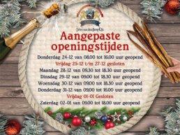 Aangepaste openingstijden Dries van den Berg & Zn