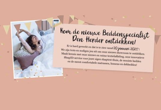 20 januari 2021 feestelijke opening bij Beddenspecialist den Herder in Harderwijk