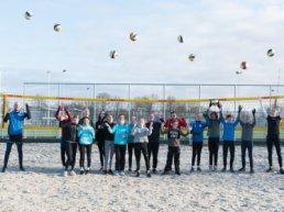Winter beachtraining in de Volleybal Vereniging Harderwijk Beach Arena