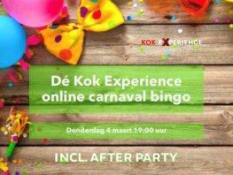 Dé Kok Experience online carnaval bingo