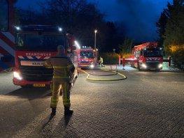 Brand op het oude Vitens terrein aan de Zandlaan in Harderwijk
