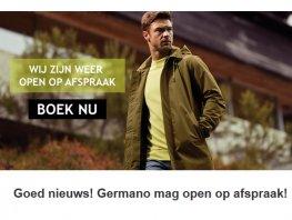 Goed nieuws! Germano Menswear Harderwijk mag open op afspraak!