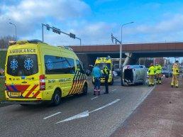 Ongeval tussen twee auto's op de kruising Stephensonstraat en Lorentzstraat in Harderwijk