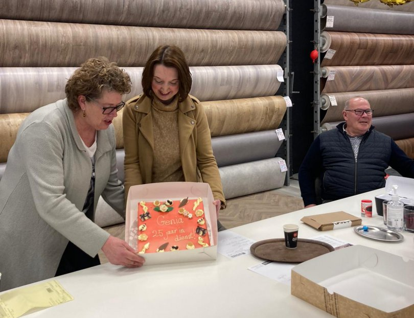 Genia de Boer-Dijkgraaf 25 jaar werkzaam bij Bronkhorst Wonen