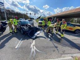 Ongeval kruising Newtonweg met de Knardijk in Harderwijk