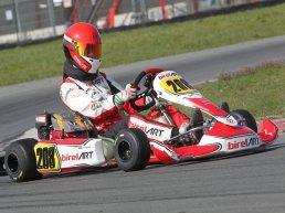 Karter Mika van de Scheur (15) uit Harderwijk tweede in Honda 9PK-klasse