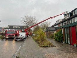Schoorsteenbrand op de Schippersmeen in Harderwijk