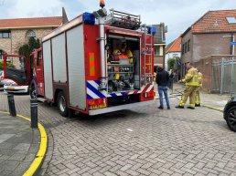 Brand in schuurtje in de binnenstad van Harderwijk
