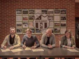 Axxent Groep en Huisvesting.nl tekenen hoofdsponsorcontract VV Elspeet