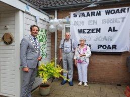 Echtpaar Zuidema - Schriemer 60 jaar getrouwd