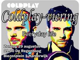 Coldplay viering 29 augustus 2021 om 19.00 uur in de Regenboog Harderwijk