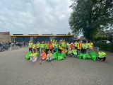 Groep zes van basisschool de Brug doet mee aan wereldwijde opruimdag